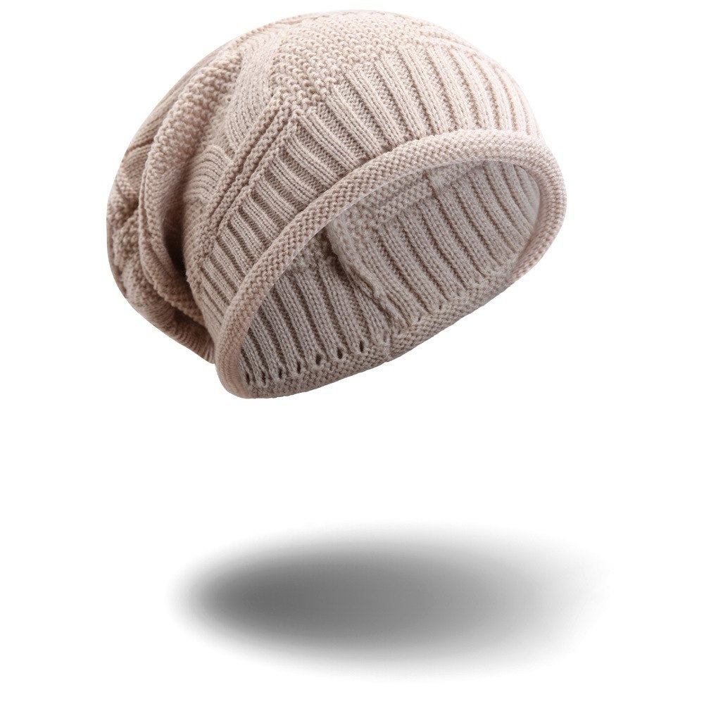 6217c0f56e299 Warm Women Winter Caps Soft Wo Knitted Hat Oversized Slouchy Beanie ...