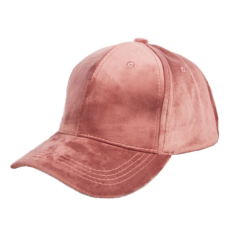 Warm winter Plain Velvet baseball caps with no embroidered casual ... e97c2d9b38c