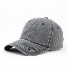 Load image into Gallery viewer, Washed Dad Hat 100% Cot 6 Panel Baseball Cap Men Women Casual Snapback Black Khaki Grey Blue