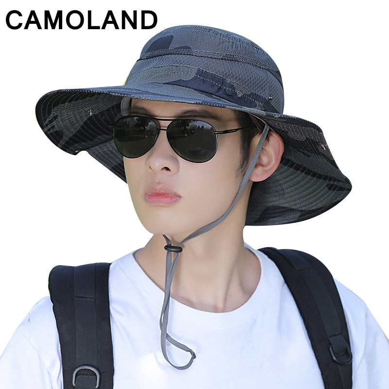 b9a0ca79a36 Waterproof Bucket Hat for Men Large Wide Brim Breathable Beach Sun Hat  Unisex Outdoor UV Protection Fishing Cap Boonie Summer