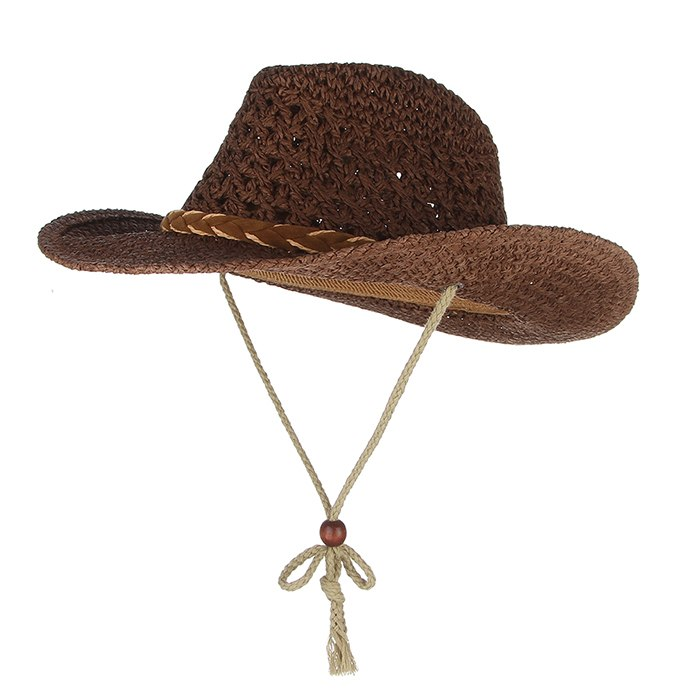 9f2f70f6 ... Load image into Gallery viewer, Western Cowboy Style Summer Hats For  Women Men Wide Brim