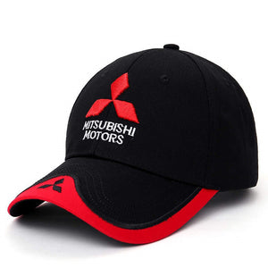 Wholesale 2017 New 3D Mitsubishi Hat Cap Car logo MOTO GP Racing F1 Baseball Cap Hat Adjustable Casual Trucket Hat CJ01