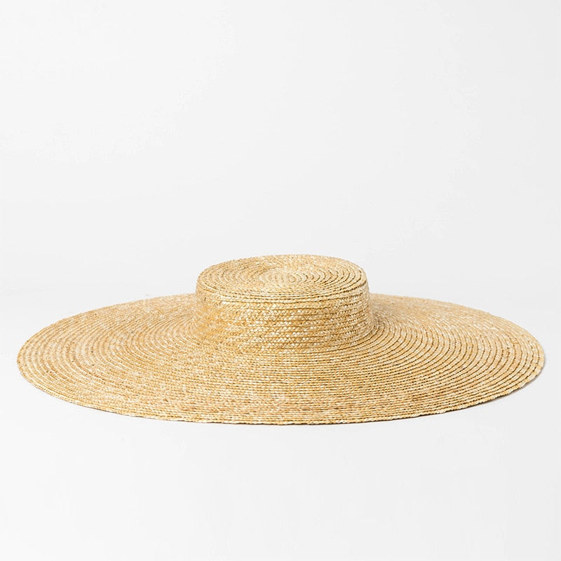 3fbc6f679d4c Wide Brim Hat Women Summer Vintage Straw Boater Hat 2018 Beach Floppy Hats  for Ladies Holiday Top Quality 681079