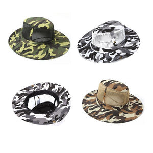 38df3b5b2a881 Wide Brim Military Unisex Sun Bucket Boonie Hat Headgear Hunting Fishing  Outdoor Mesh Cap