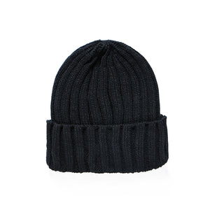 New Brand Fashion Winter Unisex Black Grey Red Solid Color Rib Knitted Beanies Hats For Woman Mens Kids Girls Boys