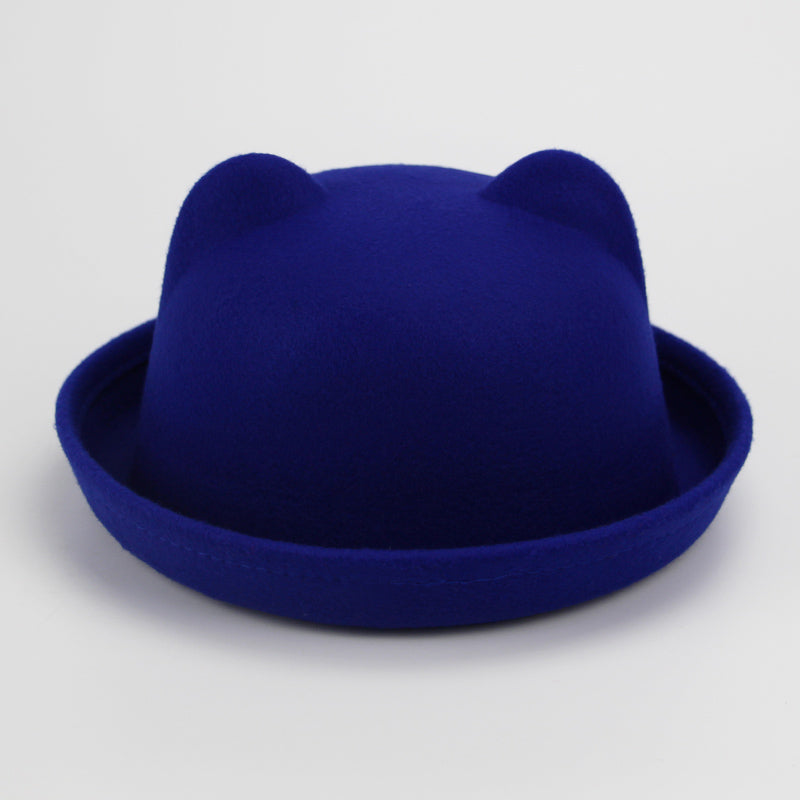 Winter Autu Women Ladies Fedoras Top Jazz Hat Fashion Thickening Bowler Hats Quality Polyester Cot Round Caps Wholesale