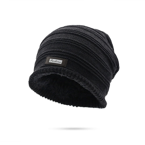 850b32094cb3f Winter Beanies Men Solid Color Knit Oversize Skulls Beanies Mens Stocking  Hat Winter Warm Plus Velvet