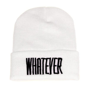 Winter Black Whatever Beanie Hat And Snapback Men And Women Cap Winter Warm Unisex Knit Ski Cap Hat Men Women Accessories