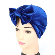 Load image into Gallery viewer, Winter Fashion Europe Women Velvet Muslim Turban Hats Indian Caps Beauty Hair Accesosries