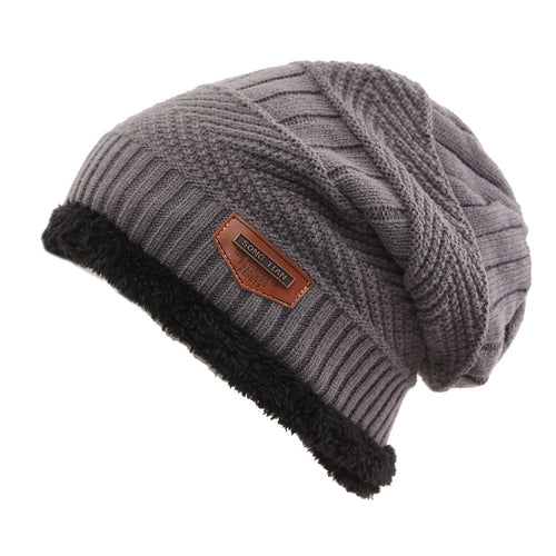 Winter Hat For Women Men Knitted Hat Hot Selling Ski Cap Cold Warm Leather  Bonnet Warm a5ea74d73a5