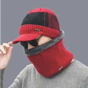 Winter Hat Skullies Beanies Hats Winter Beanies For Men Women Wo Scarf Caps Balaclava Mask Gorras Bonnet Knitted Hat