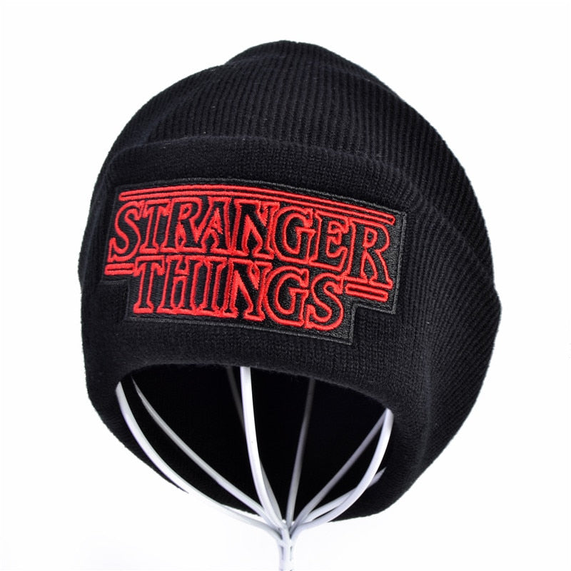 Winter Men Women Teenagers Warm Beanine Winter Hat Dustin Stranger Things Dustin Black Knit Beanie Cap Hat For Men Women Youth