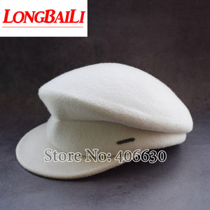 2c2a30c7f6a62 Winter Solid Color White Wo Felt Beret Caps For Women Visors Men Military Hats  Free Shipping BMDW003
