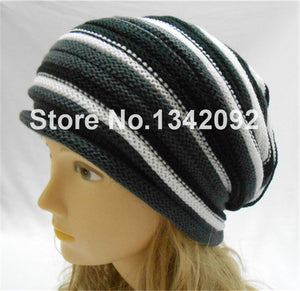 Winter Women Men Beanie Hat Beautiful Design Slouchy Baggy Unisex Knit Cap Skull NEW