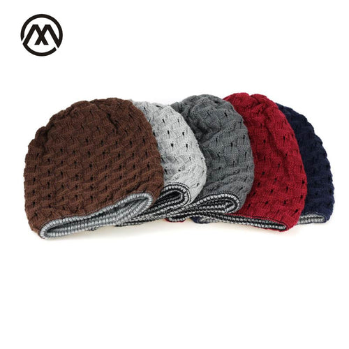 10302ad2 Winter knit hat New Fashion Men Warm Snow Winter Casual Beanies Solid 5  Color Favourite Knit