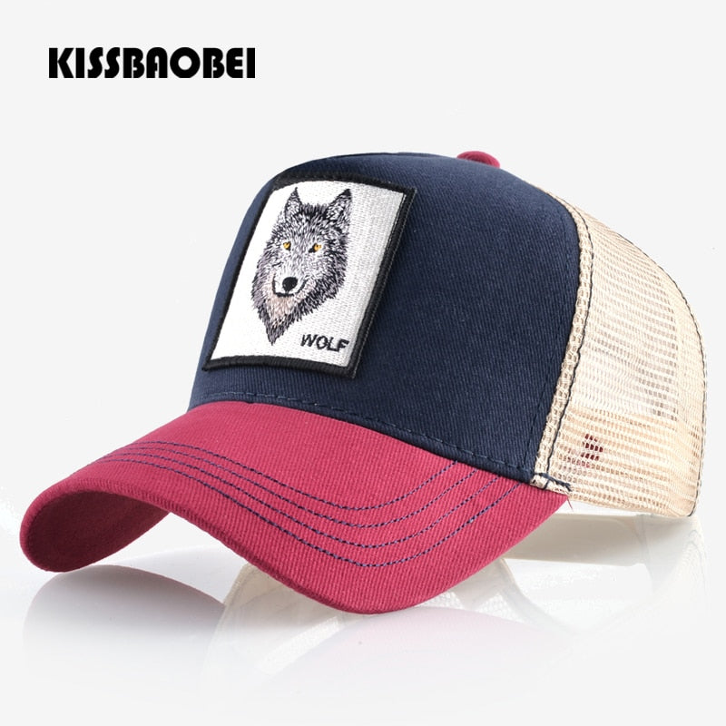 Wolf Embroidery Baseball Cap Men Women Snapback Caps Breathable Mesh  Hip Hop Bone Unisex Casual Casquette Gorras Dad Hat