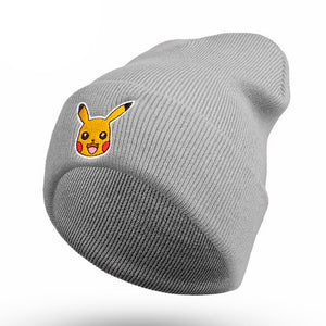 Woman Man Cute Cartoon Pikachu Animal Beanies Hat Winter Adult Boys Girl Costume Warm Fluffy Hats For man Unisex Halloween Gifts