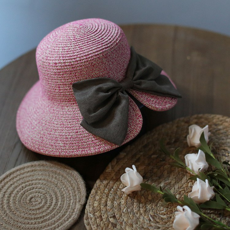 Women Beach Sun Hat 2018 Spring Summer New Hot Fashion Female Casual Bow Soft Straw Sun Hats Caps