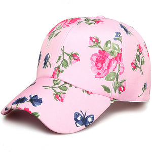 Women Fashion Adjustable Cot Floral Printed Baseball Caps Summer Sun Snapback Hip-Hop Hat Sunbonnet 2018 Trendy