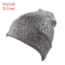 Load image into Gallery viewer, Women Girls Knitted Bronzing Gold Silver Beanies Ball Hat For Women Winter pompom Hats Female Skullies Beanie Bonnet Warm Hat