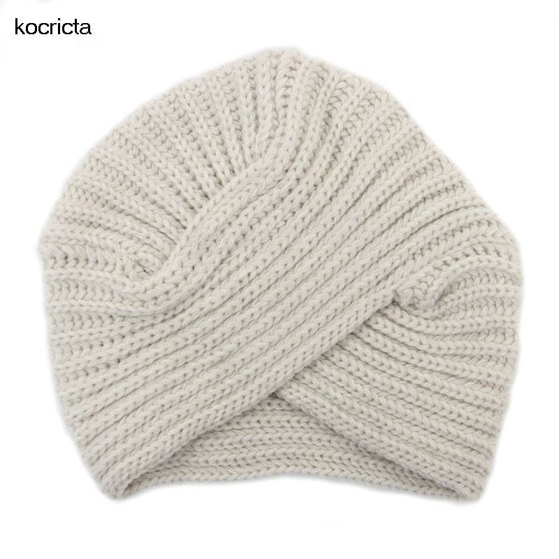 Women Knitted Turn Beanie Hat Autu Winter Lady Solid Blank India Cap ... 1314bb9531d