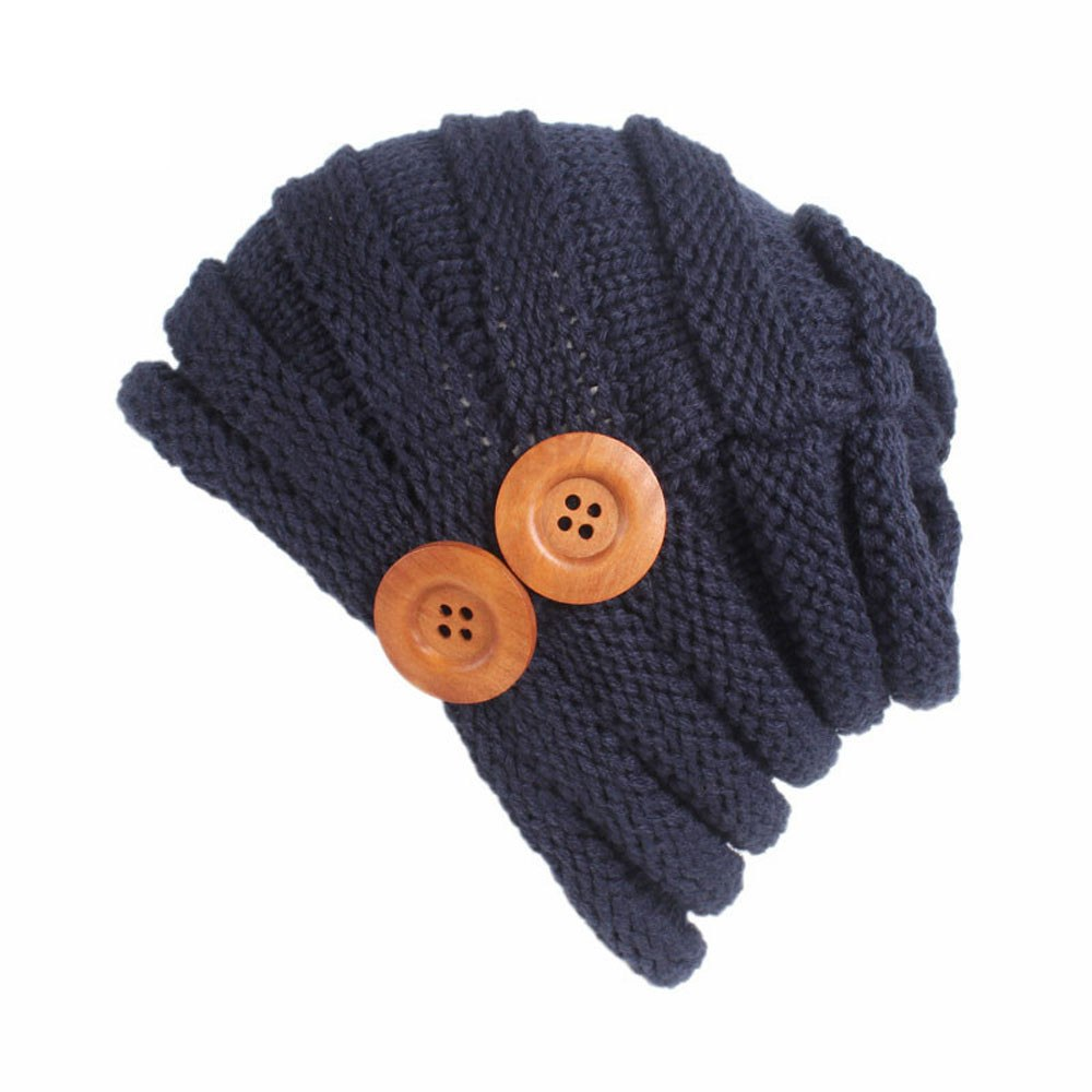 95c40ca5d88 Women ladies cap winter warm crochet knitting hat turban brim pile beanie  new sale female hat