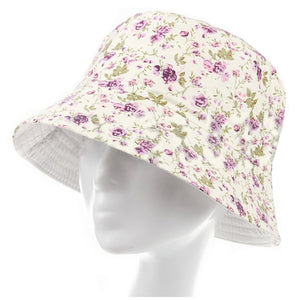 84d96dc1a45 Women Men Bucket Hat Boonie Hat Hunting Fishing Outdoor Cap Floral Summer  Sun Hats color