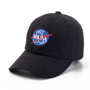 Women Men New Black Baseball Caps SpaceX Outer space Fans Universe Spaceman Explorer Cot Baseball Cap Hat
