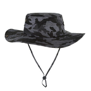 398f7da6680 Women Men Outdoor Fishing Sun Hat Mesh Bucket Hat Summer Hiking Cap Wide  Brim UV Protection Hat