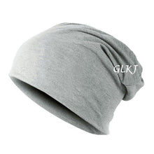 Load image into Gallery viewer, Women Men Unisex autumn Winter Hip-hop Cap ladies casual fashion hot solid cotton Beanie Baggy Hats