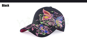 Women Spring New Butterfly Embroidered Baseball Cap Women Summer Visor Sunhats Lady Fashion Shopping Cycling Out Sports Snapback