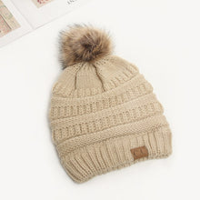 Load image into Gallery viewer, Women Winter Beanies Hats Female Ball Cap Pom Poms Hats For Girl Knitted Beanies Hat Thick CC Skullies Beanies gorro feminino