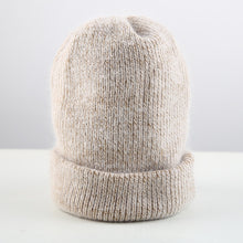 Load image into Gallery viewer, Women knitted Winter Hat female Warm Rabbit fluff beanie Girl Solid Bonnet femme Skullies beanies Soft Hats Women's Winter Caps