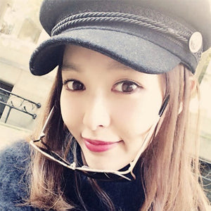 Women's Baseball Caps 2018 Autumn And Winter Flat Cap Hats For Women Girls England Style Solid Casual Casquette Hat Women Gorras