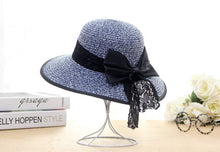 Load image into Gallery viewer, Women's Boater Sun Hats 2017 New Fashion Wheat Panama Summer Hats For Women Boater Chapeau Paille ladies Straw Hats Accessories