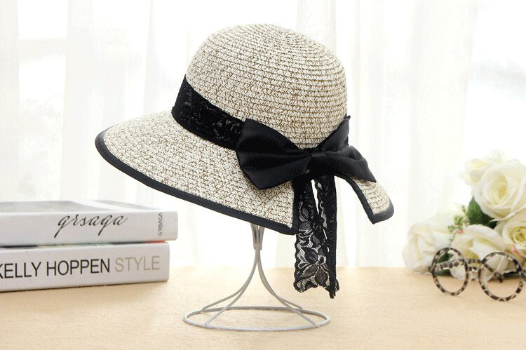 Women's Boater Sun Hats 2017 New Fashion Wheat Panama Summer Hats For Women Boater Chapeau Paille ladies Straw Hats Accessories