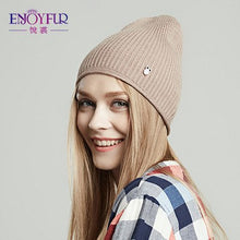 Load image into Gallery viewer, Women's beanies hats for Spring and Autumn fashion casual caps 2018 brand new female spring hat curling design solid hats