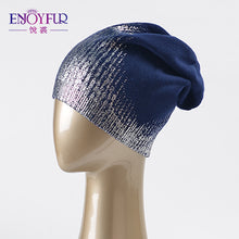Load image into Gallery viewer, Women's  beanies hats for Spring and Autumn knitted with wo Europe and America fashional caps 2018 new arrival popular hats