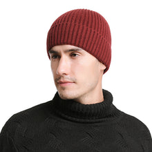 Load image into Gallery viewer, Wo Men's Winter Hats 2017 Fashionable Knit Black Hats Autumn Hats Thick and Warm Hats Skullies Peas Soft Knitted Woolen Cotton