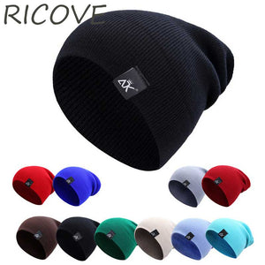 c19f85f9a48 Woolen Caps For Men Women Hip Hop Stocking Hat Winter Autu Skullies Beanie  Knitted Cap Fashion Solid Color Unisex Beanies Hats