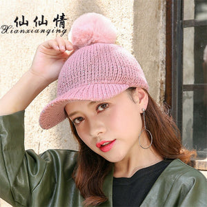 Winter Women Cap With Sequins Bling Bling Hats Kint Baseball Hat Cute  Students Peaked Cap New 8f97567bfe9