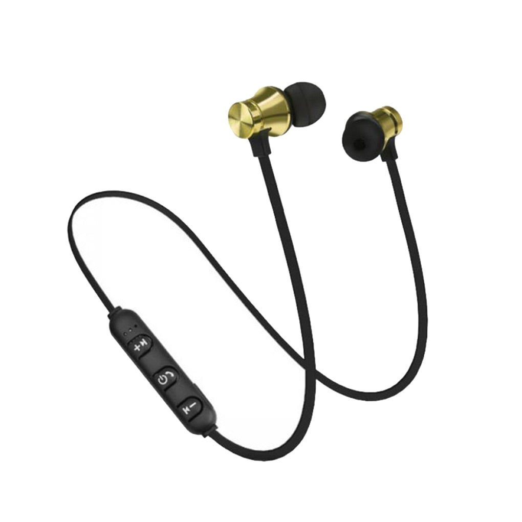 XT11 Magnetic Bluetooth 4.2 In-ear Headset Hands-free Noise Reduction Sports Running Wired Earphone