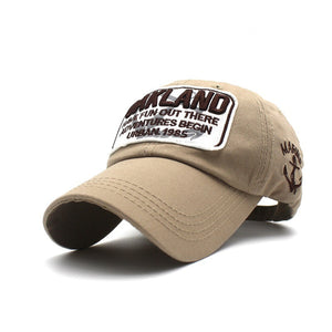 Oakland Baseball Cap Boys Girls Sun Caps Cot Embroidery Word Hat Black Red  Khaki Blue White b94b27900a4