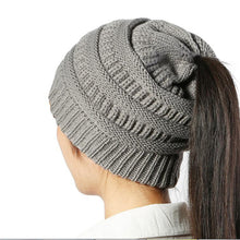 82b5aec15 New keep warm Ponytail beanies knitted hat winter hat for women cheap girl  's hat Cotton cap new thick female cap