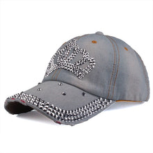 Load image into Gallery viewer, [YARBUU]Baseball caps 2016 new fashion style men and women's Sun hat rhinestone hat denim and cotton snapback cap Free shipping