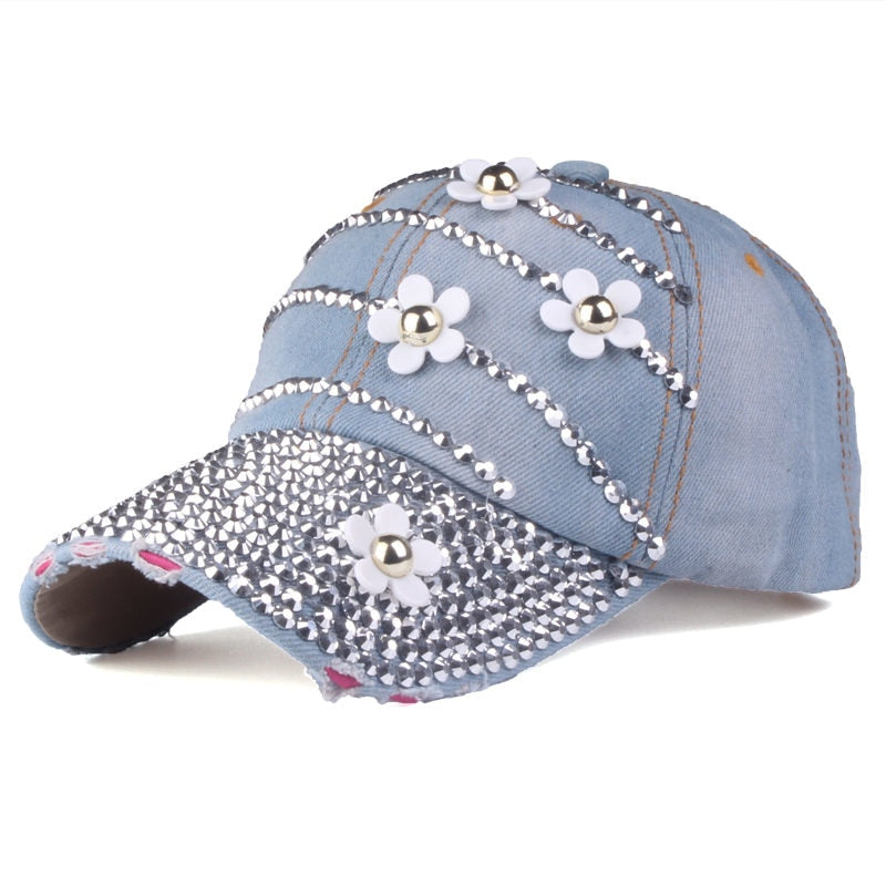 YARBUU  Baseball caps with flowers 2017 New style women Adjustable ... 6840d8be704c