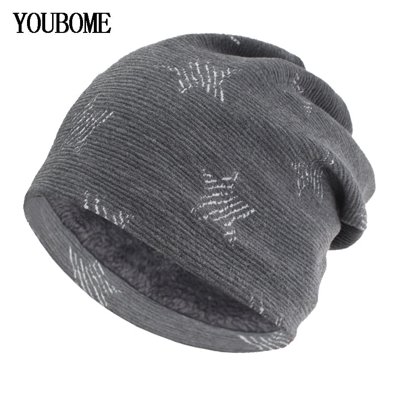 8143a81b6101f Fashion Knitted Hat Women Skullies Beanies Winter Hats For Men Mask Brand  Gorros Bonnet Warm Baggy Winter Beanie Hat Cap