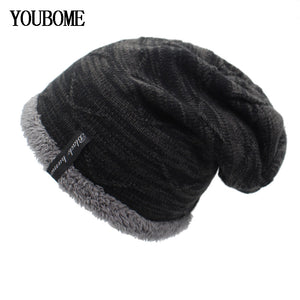 5bdbf6407263d Winter Knitted Hat Skullies Beanies Winter Hats For Men Women Mask Brand Beanie  Gorros Bonnet Warm