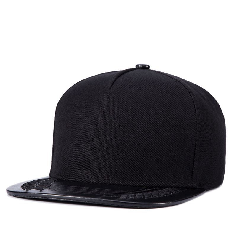 Black Full Cap Hat Baseball For Men Bone Five Panel Wheat Hats Kpop Male Flat Cap Snapback Hip Hop Cap YIC022