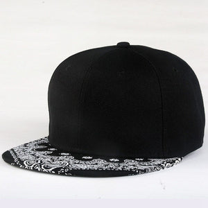 Cashew Flowers Hip Hop Flat Baseball Cap For Men Summer Snapback Cap Straig Full Cap Male Brand Baseball Hat YH393